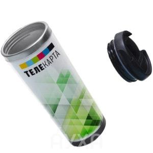 Заказать/купить термокружку/кружку с вставкой/ высокую кружку с нанесением/печатью/изображения своей картинки/принта