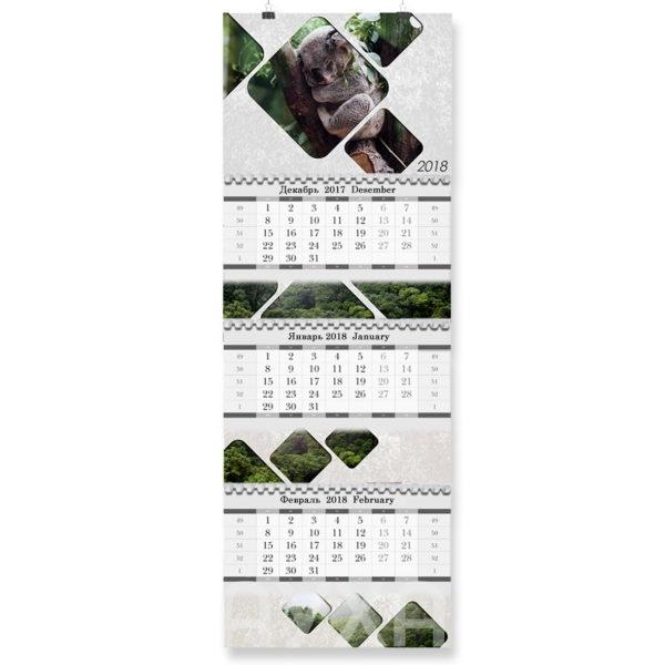 Заказать/купить в Хабаровске квартальный тематический/корпоративный календарь с моим изображением/нанесением в три блока