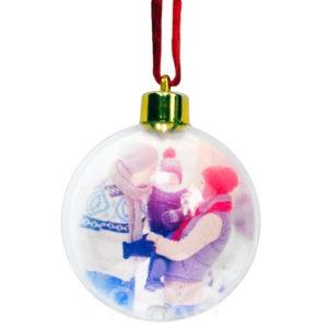 Поместить фотографию/изображение/картинку внутрь прозрачного новогоднего шара. Новогодний шар с моей фотографией внутри.