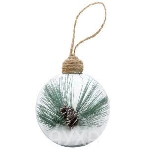 Новогодний шар, внутри которого мое поздравление/логотип фирмы. Необычный новогодний шар. Шар с поздравлением внутри.