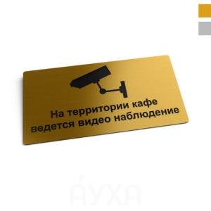 Разместить информацию внутри помещения/на фасаде на металлической табличке. Уличная вывеска на золотой/серебряной табличке