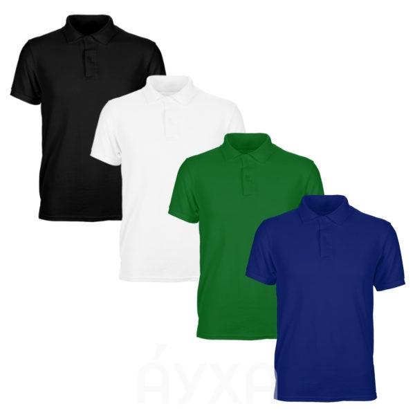 цветные футболки поло палитра